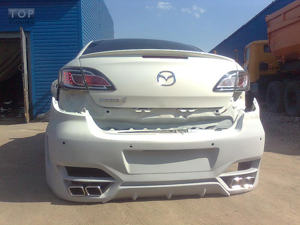 Mazda 6 с оторванным бампером
