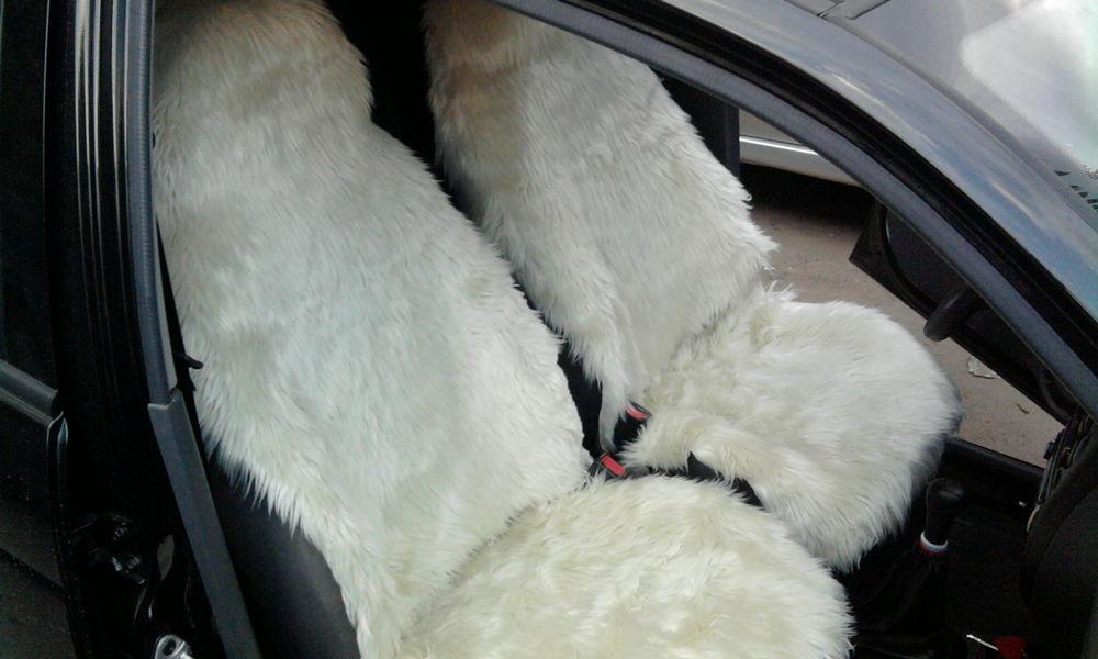 Меховые накидки на сидения авто