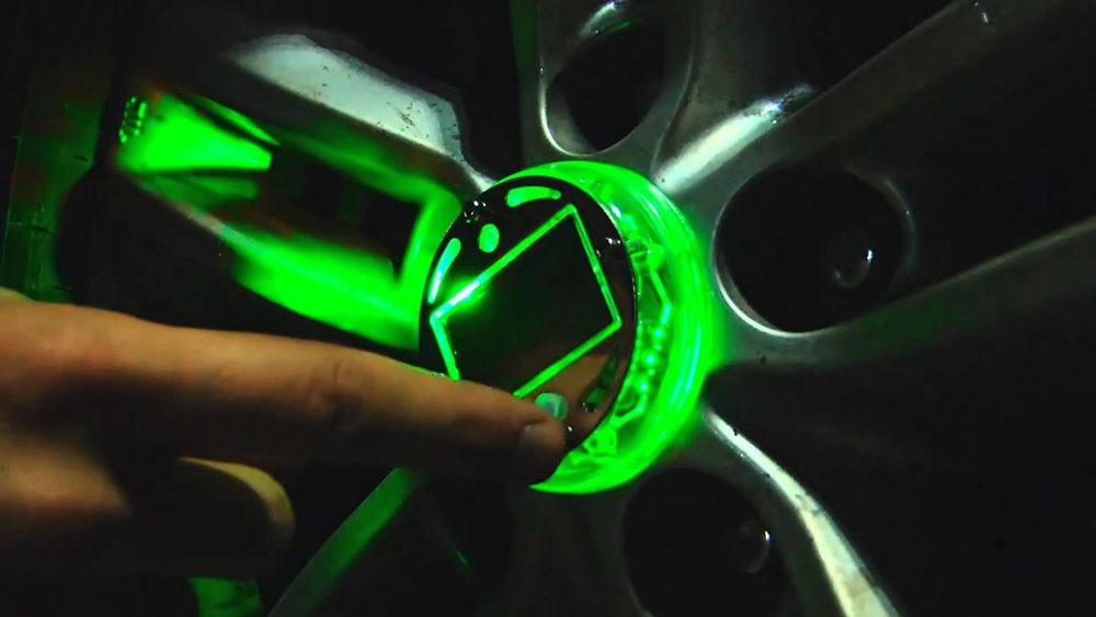 Подсветка дисков зеленого цвета