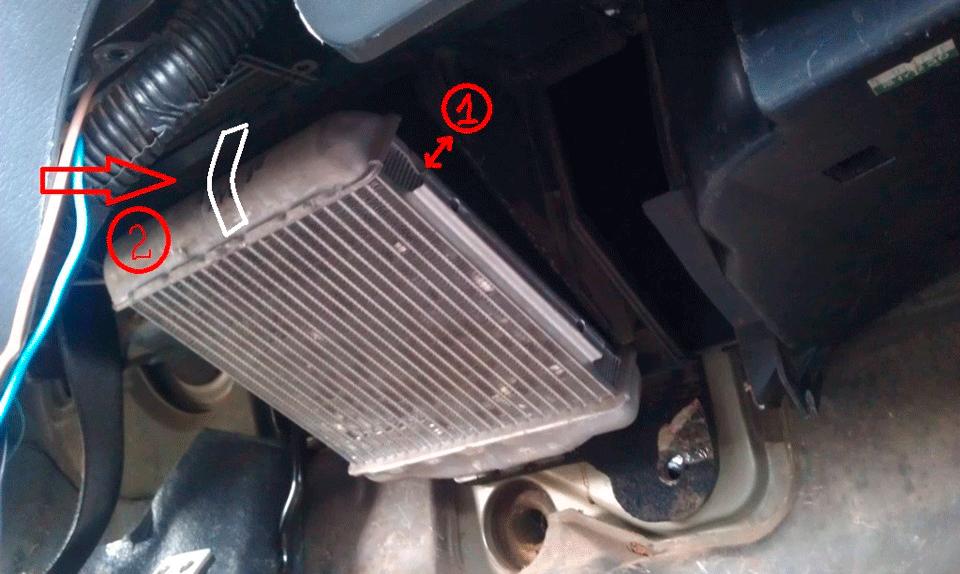 Снятие радиатора печки Шевроле Ланос