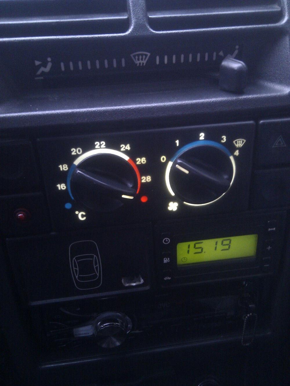 Панель приборов печки ВАЗ-2110