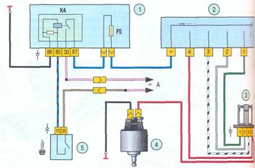 Электросхема печки Калина