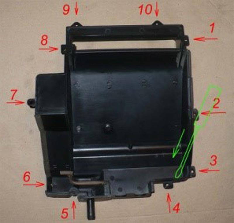 Инструкция для замены радиатора печки Шевроле Ланос