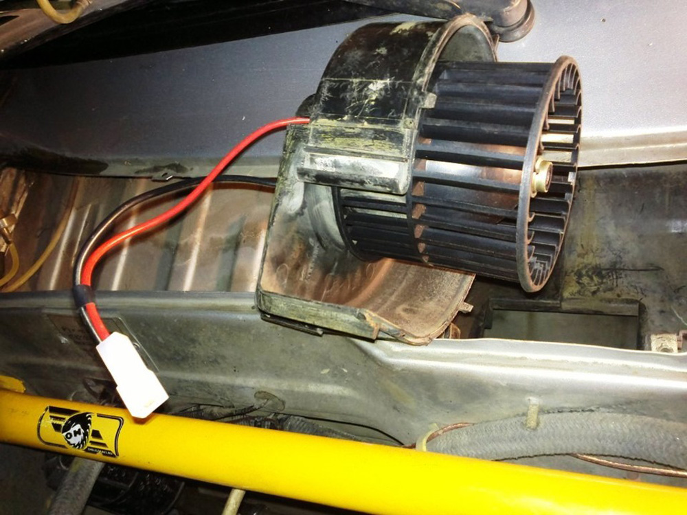 Демонтаж мотор-вентилятора