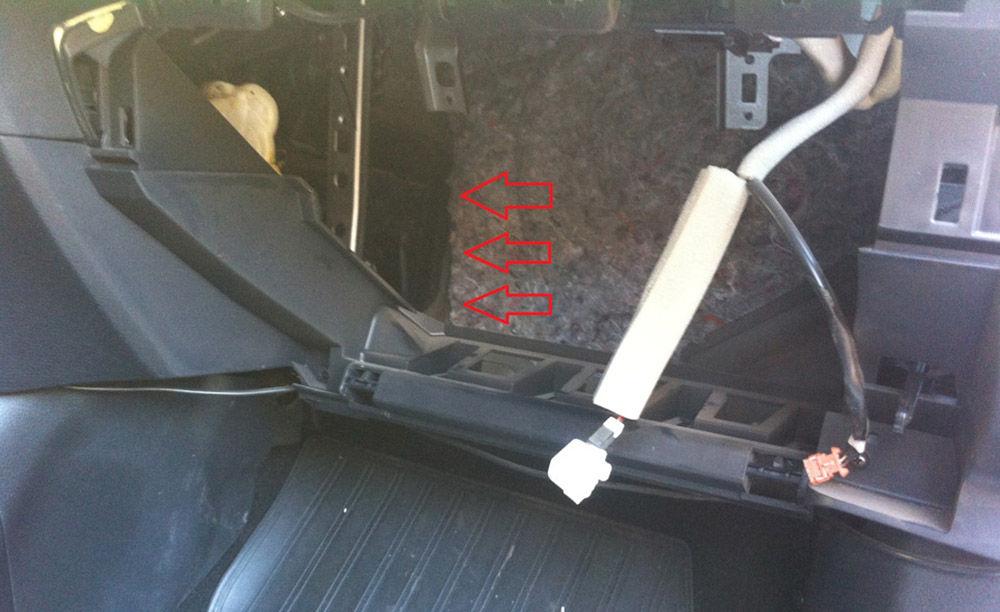 Расположение фильтра в кузовеJ11