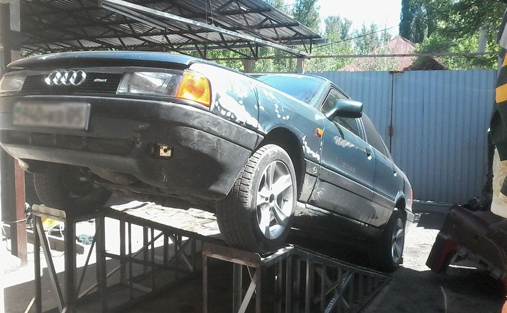 Установить авто на эстакаду