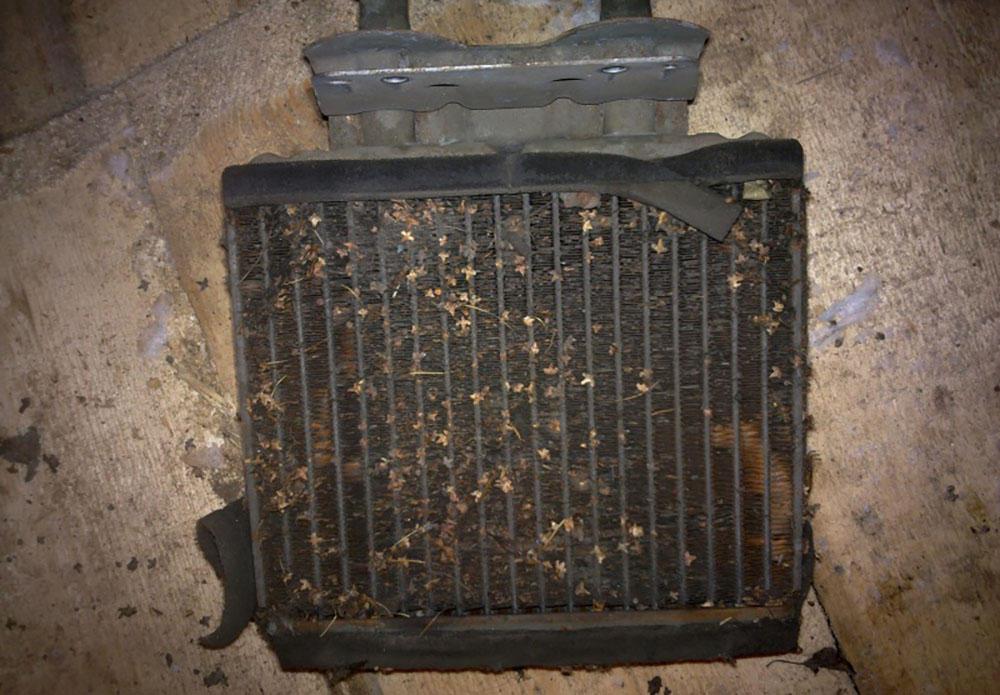 Проверка радиатора печки