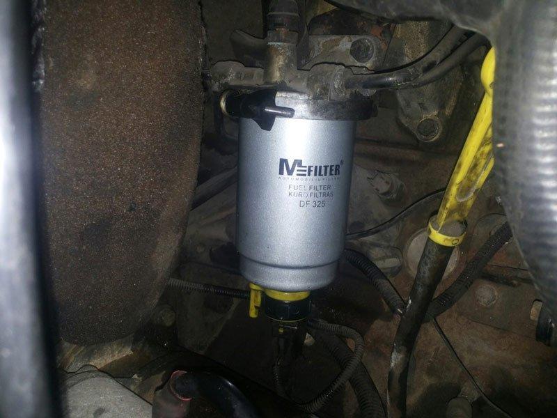 Топливный фильтр на Ford Transit