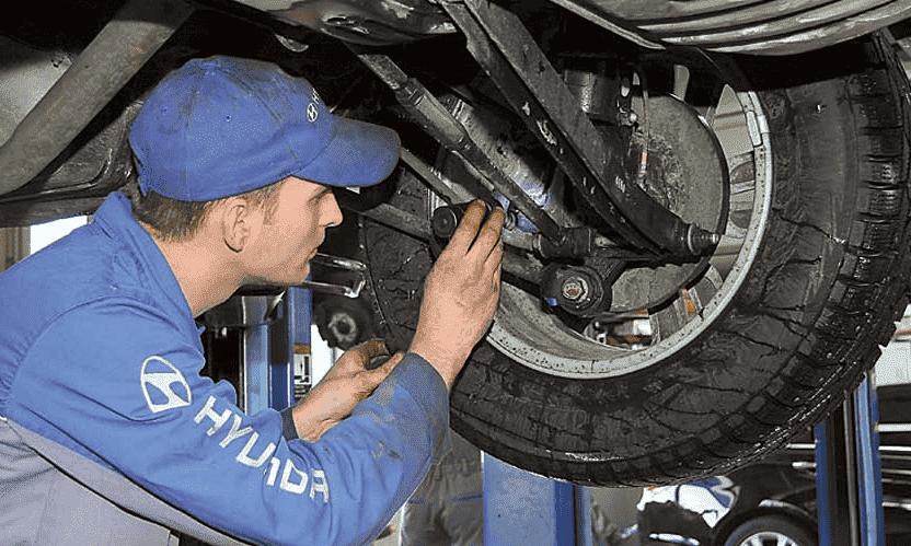 Диагностика ходовой части Hyundai