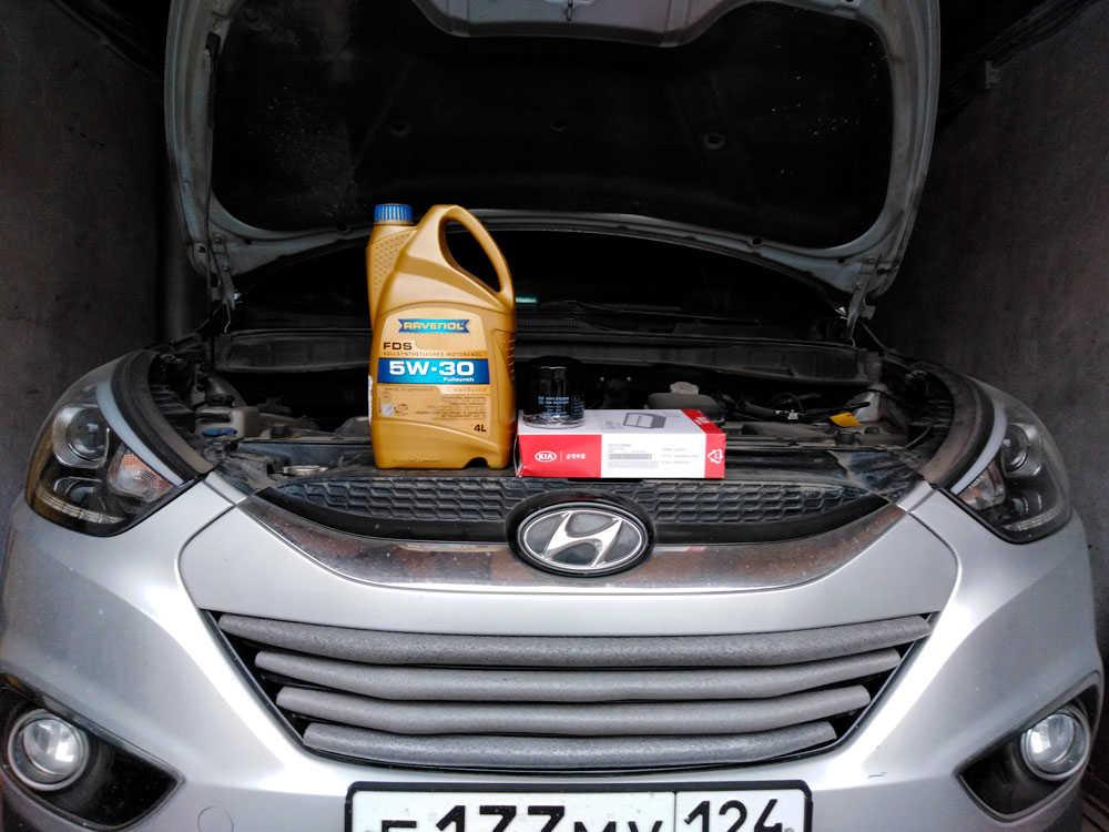 Замена моторного масла hyundai ix35