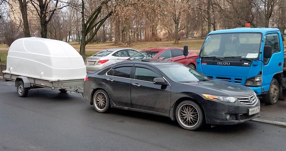 Автомобиль Honda с АКПП и прицеп