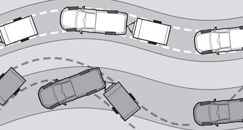 Занос автомобиля на повороте