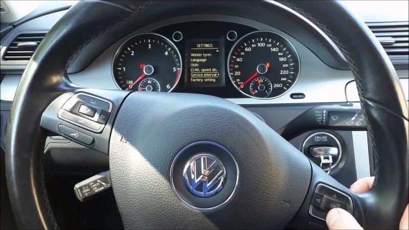 Сброс сервисного интервала на руле Volkswagen Passat