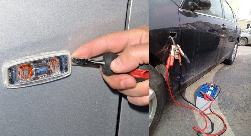 Подключение автомобильного аккумулятора