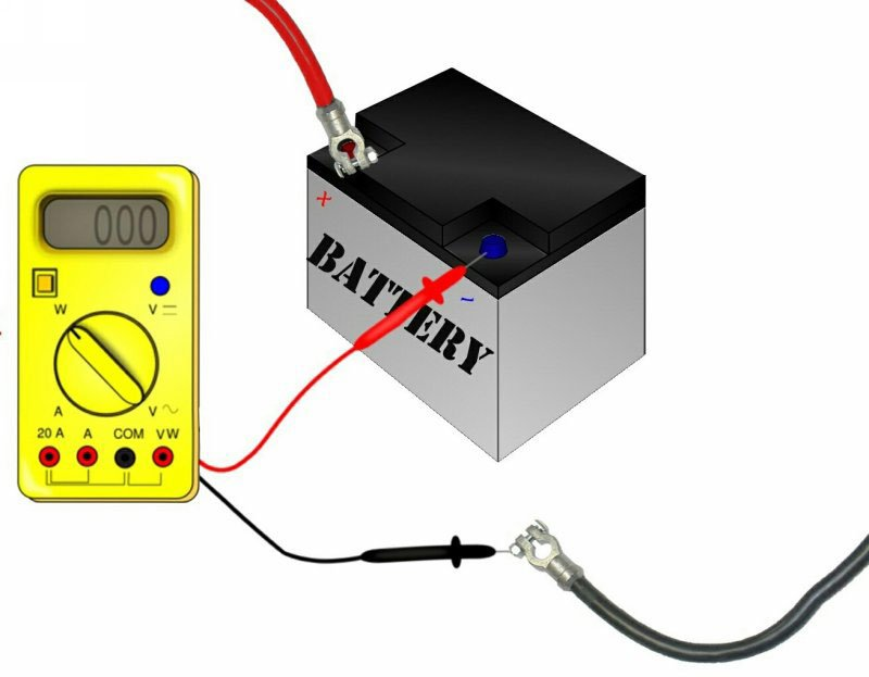 Диагностика аккумулятора мультиметром