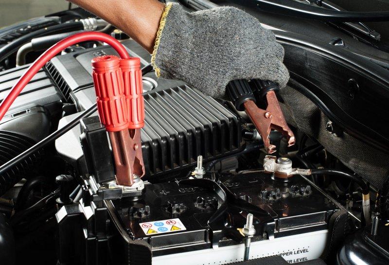 Прикуривание от аккумулятора авто