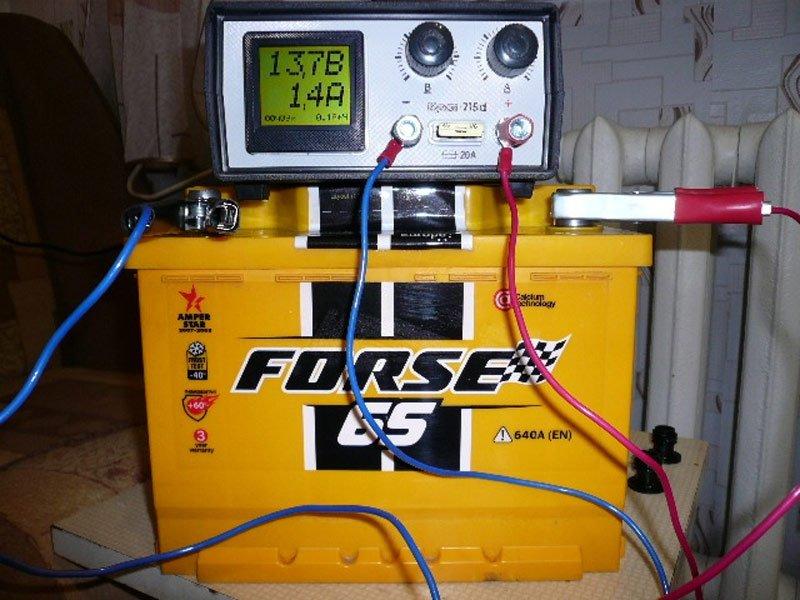 Зарядка АКБ с вольтметром и амперметром