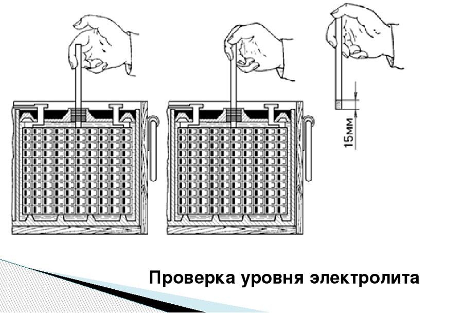 проверяйте уровень электролита