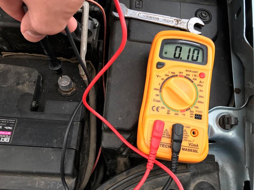 Замер тока утечки на АКБ