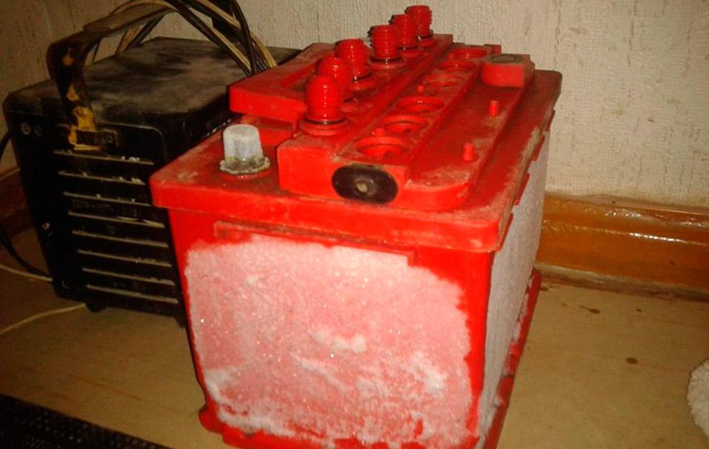 Что делать, если замерз аккумулятор