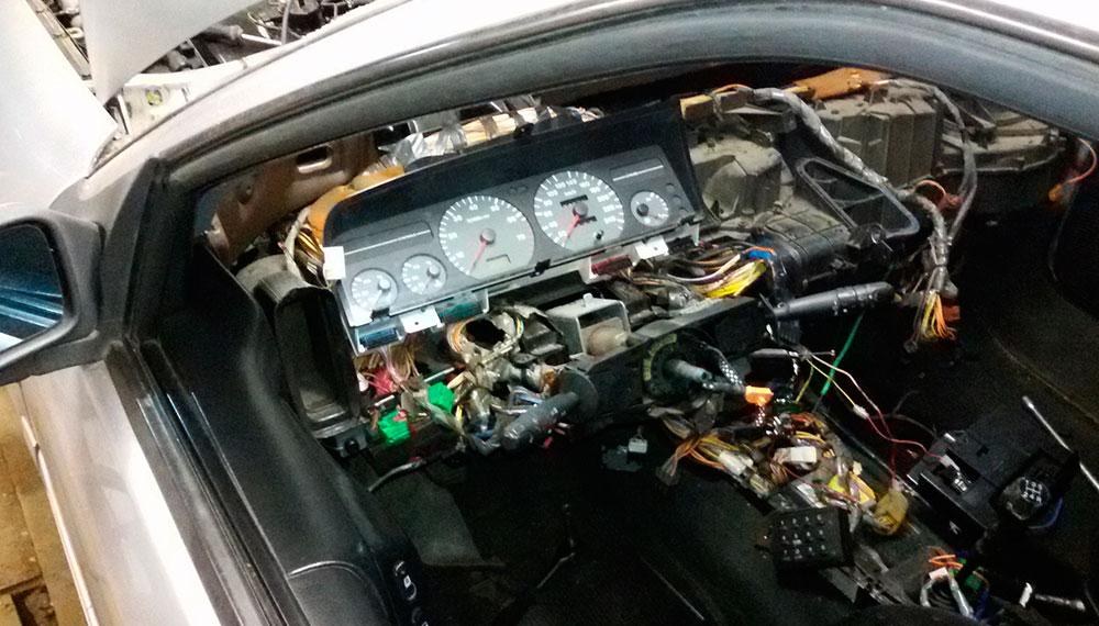 Замена радиатора печки на автомобиле Citroen Xantia