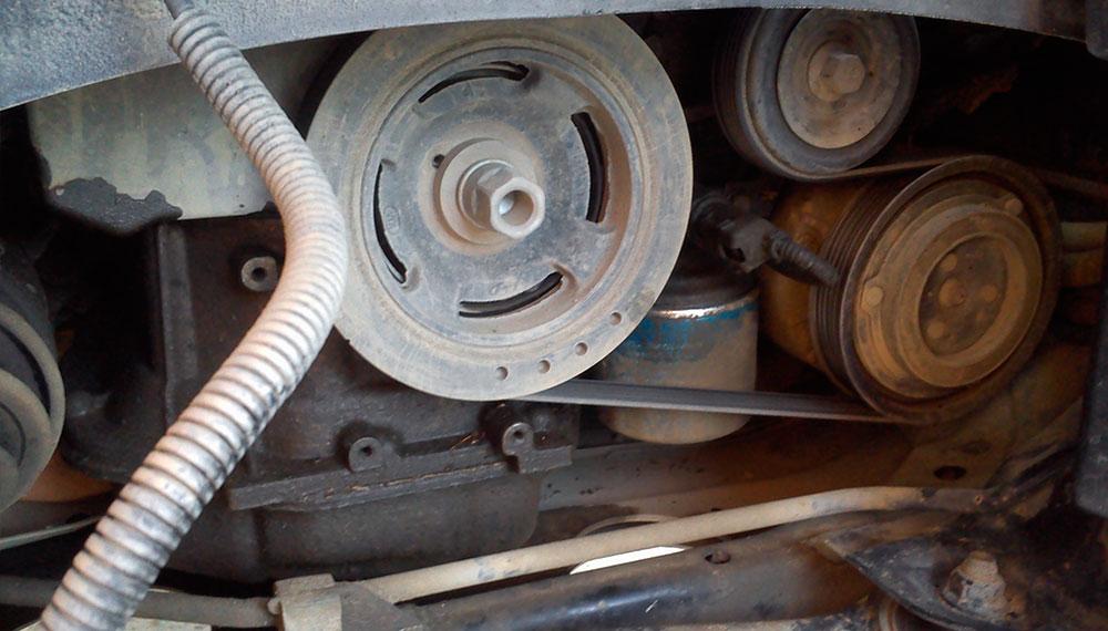 Ремень генератора на Hyundai Santa Fe