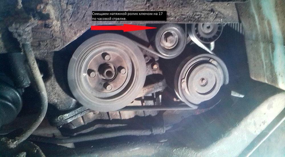 снятие генератора Hyundai Santa Fe