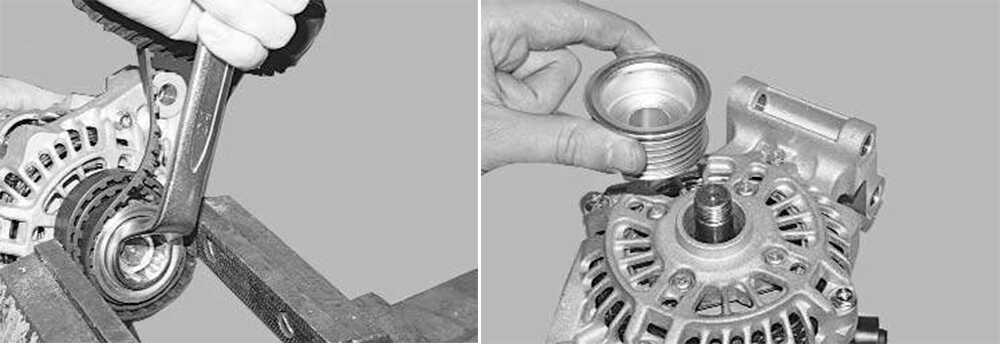 Извлечение шкива генератора
