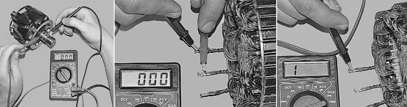 Проверка работоспособности ротора и статора