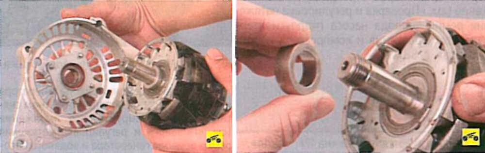 Снятие крышки и отсоединение дистанционного кольца