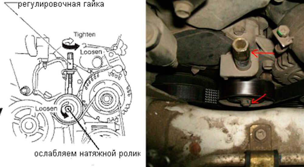 Замена ремня генератора на Nissan Cefiro