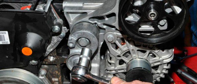Замена ремня и генератора Renault Duster