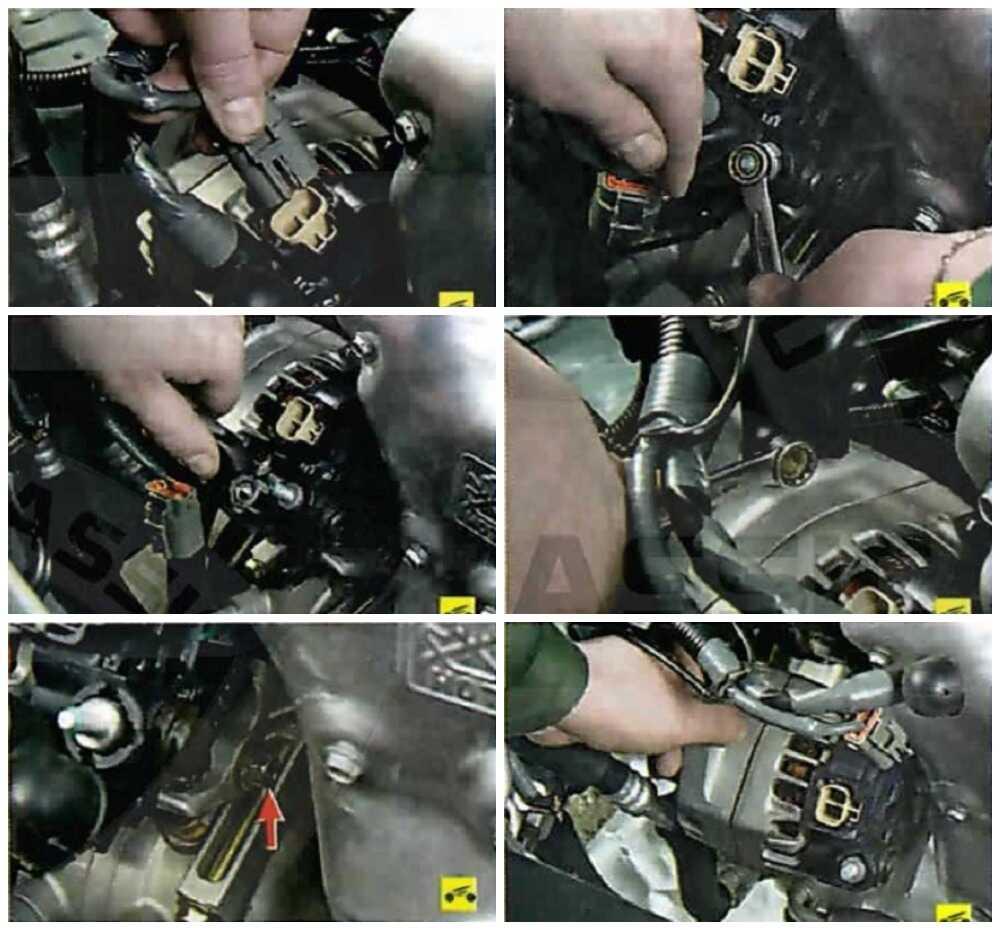 Снятие генератора с Nissan Almera