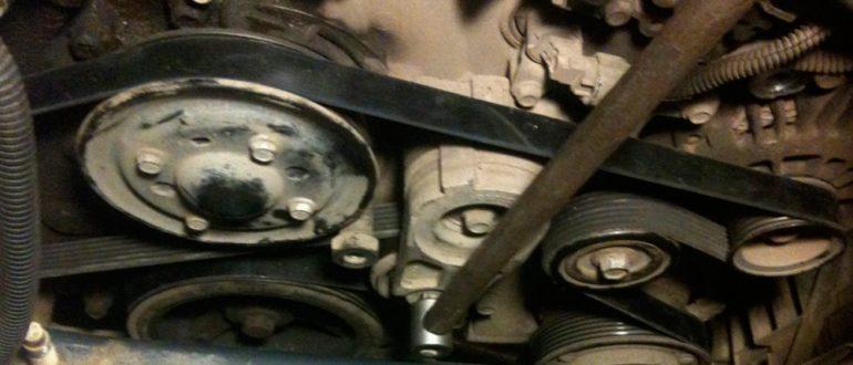 Как заменить ремень и генератор Chevrolet Captiva