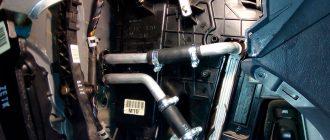Замена радиатора отопителя Hyundai Tuсson