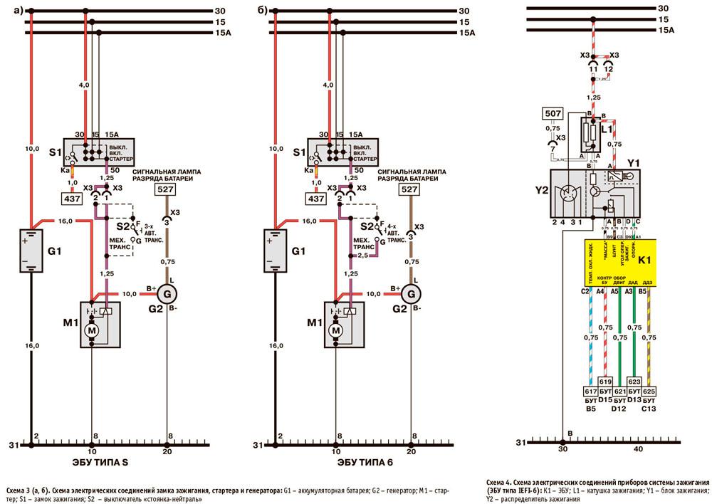 Электрическая схема Daewoo Nexia