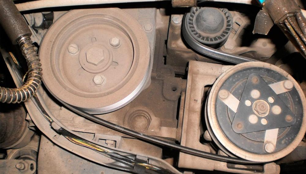 Замена ремня и генератора Peugeot 206