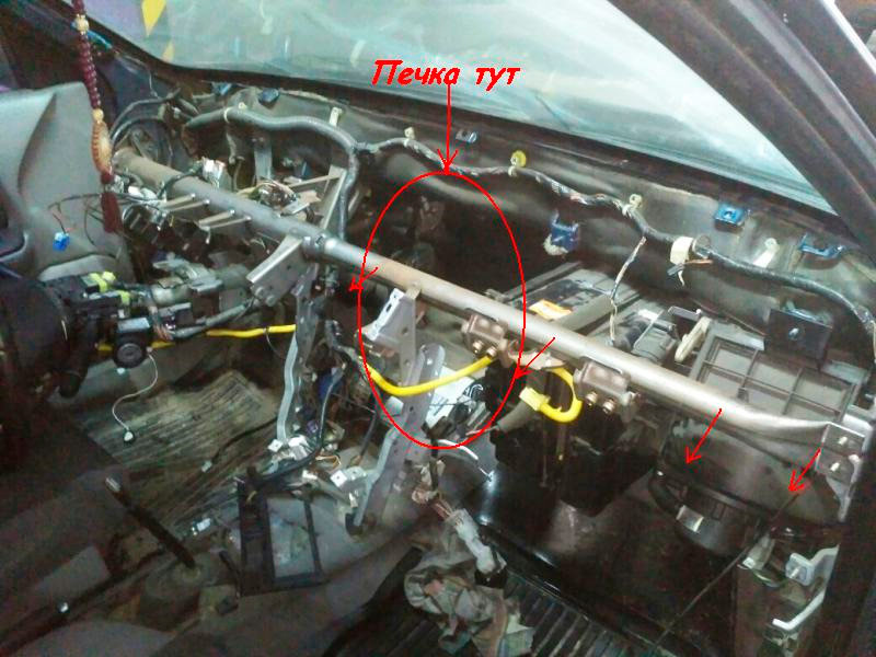 Nissan primera р12 печка